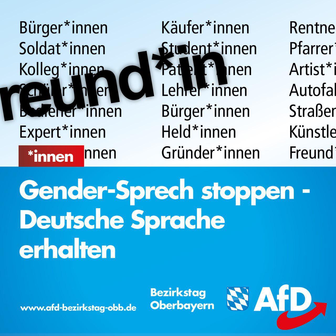 Gender Sprech Stoppen Und Deutsche Sprache Erhalten Afd